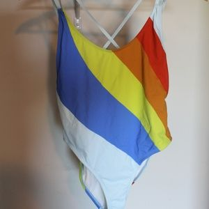 Urban Outfitters Rainbow One Piece Bathing Suit